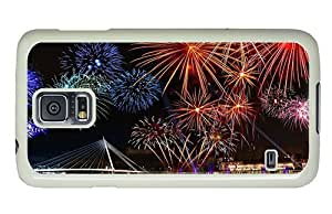 Hipster Samsung Galaxy S5 Case top cases new year fireworks PC White for Samsung S5 by lolosakes