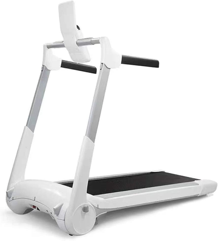 TOE Treadmills for Household, Foldable, Silent, Free Installation Treadmills, Designed for Small Apartments (Color : White)