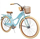 Huffy 26' Womens Nel Lusso Cruiser Bike with Perfect Fit Frame, Blue