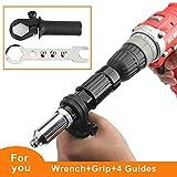 Best Rivet Guns - Cordless Drill Electric Rivet Gun Adapter-Professional Riveting Insert Review