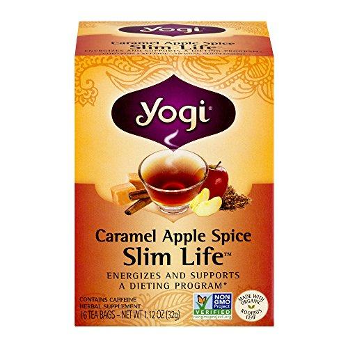 Yogi Caramel Apple Spice Snack Tea Bags, 16 count (Pack of (Caramel Apple Sampler)