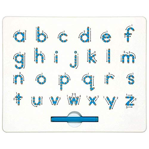 - SuperLi Magnetic Alphabet Letter Tracing Board - STEM Educational Learning ABC Letters Kids Drawing Board with Stylus Pens- Best Gift for Boys and Girls (Lower Case)