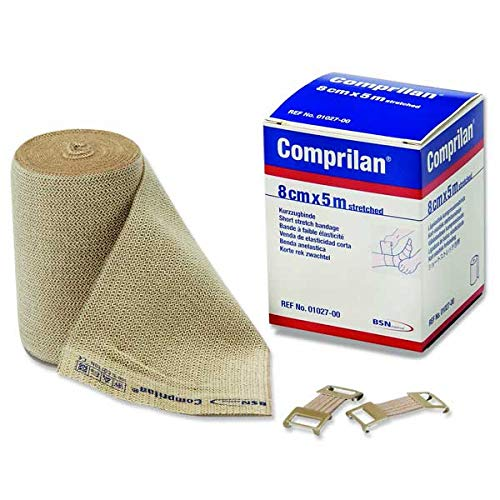 "Comprilan, 100% Cotton Short Stretch Compression Bandage, 12cm x 10m (4.7"" x10.9yds.), 1 Roll ()"