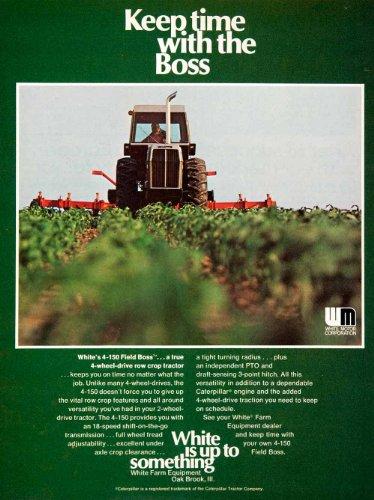 1976 Ad White Farm Equipment Oak Brook Illinois Motor Tractor Farming Crop Field - Original Print Ad