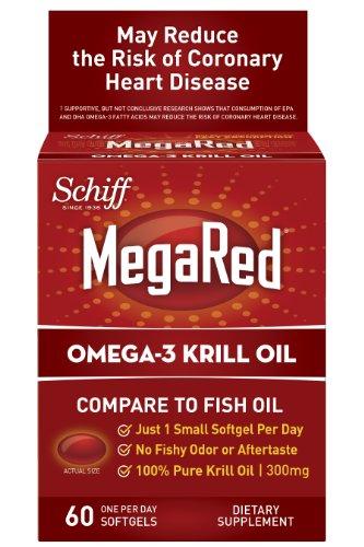 Supplément 300mg MegaRed Omega 3 huile de krill, 60 comte
