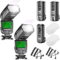 Neewer NW620 Manual Flash Speedlite Kit for Canon Nikon Olympus and Other DSLR Cameras:(2) NW620 GN58 Flash,2.4G Wireless Trigger,(2) Hard Diffuser