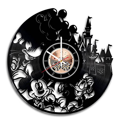 Amazon.com basalt - Unique Vinyl Clock - Handmade - Original Vinyl Wall Clock - Disney Mickey Mouse Minnie Mouse vinyl record wall clock Home u0026 Kitchen  sc 1 st  Amazon.com & Amazon.com: basalt - Unique Vinyl Clock - Handmade - Original Vinyl ...