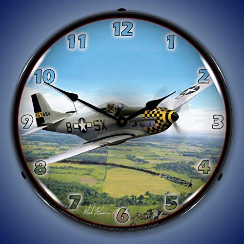 P-51 Mustang Backlit Wall Clock (Mustang 51 P Clock)