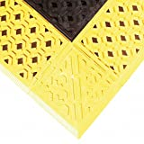 Notrax Cushion-Lok Drainage Mats - 30X60'' - Black With Yellow Border - Black With Yellow Border - 30x60''