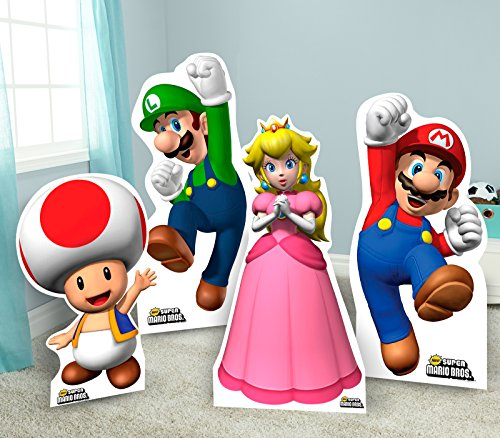 Super Mario Bros Room Decor - Life Size Cardboard Standup Combo Kit by BirthdayExpress