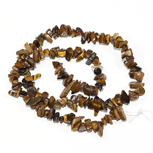 AAA Natural Tiger Eye Gemstones Smooth Chips Beads Free-form Loose Beads ~8x5mm beads for Jewelry Making (1 strand, ~16