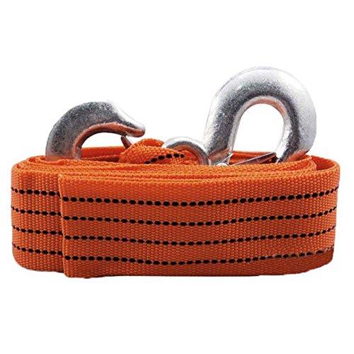 Voiture Corde de Remorquage - TOOGOO(R)4M 3 Tonnes de Voitures de Remorquage Cable de Remorquage Sangle Corde avec Crochets Orange New