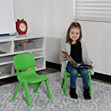Flash Furniture 2 Pack Green Plastic Stackable