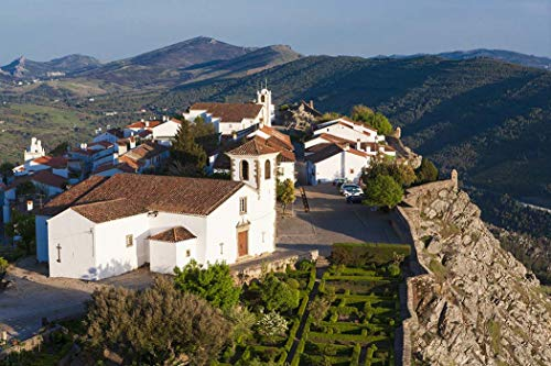 Portugal, Photography, Alentijo, Marvao, landscape, hilltop, village, hills, church, Europe, Art Print, Wall Art, Gift, Decor, Photo