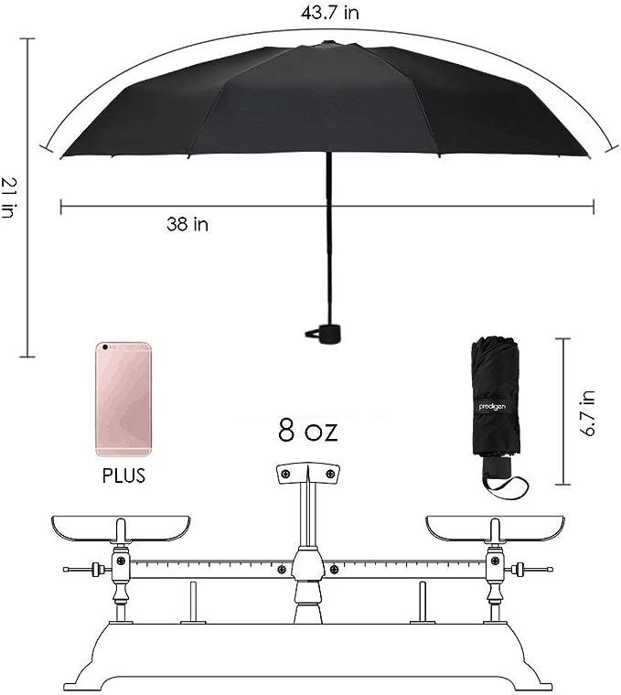 Color : Black, Size : A Qeeuanl Folding Umbrella Female Ultra-Light Compact Portable Rain and Rain Dual-use Pocket Sun Umbrella Sun Protection Umbrella
