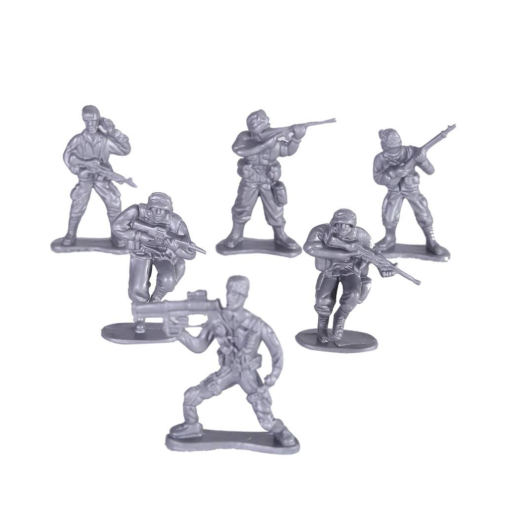 250 Piece Military Figures and Accessories War Soldiers Playset with 4 Flags and Battlefield Accessories Includes Tanks Planes Gunel Toy Army Soldiers in 4 Colors Green