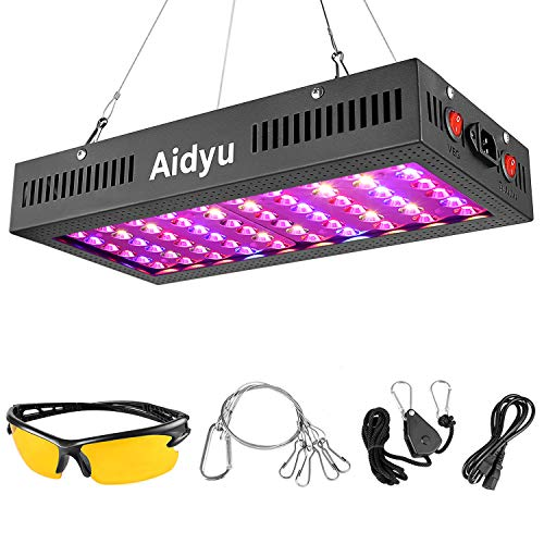 600W LED Grow Light with Bloom and Veg Switch, Aidyu LED Plant Growing Lamp Full Spectrum for Greenhouse Indoor Plants, Can Replace HPS Grow Light
