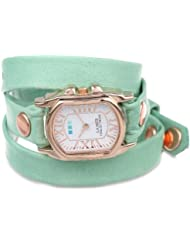 La Mer Collections Womens LMCHATEAU1002 Melon Rose Gold Chateau Wrap Watch