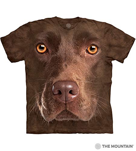 The Mountain Chocolate Lab Face Adult T-Shirt, Brown, Large ()