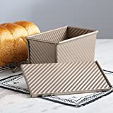 Magic Kitchen Nonstick Bakeware Loaf Pan Baking pan With Cover 8.5 x 4.8 inch Bread Toast Mold with Lid,Made in the CHN from Aluminized Steel