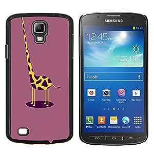 Planetar® ( Dibujo Jirafa divertida Ciruelo Amarillo ) Samsung Galaxy S4 Active i9295 Fundas Cover Cubre Hard Case Cover