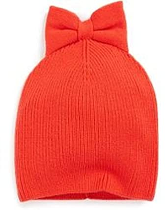 aebf2b2cd77bd Image Unavailable. Image not available for. Color  Kate Spade New York  Women s Black Solid Bow Beanie Charm Red