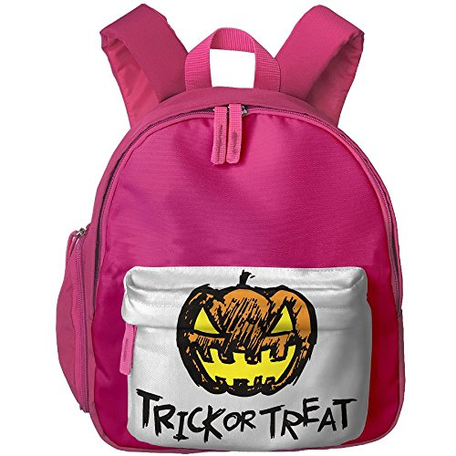 Teenage Diy Halloween Costumes (Halloween Pumpkin Head And Trick Or Treat Floral Print Backpack For Children Boys Girls)