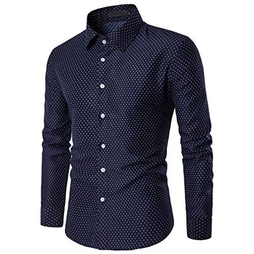 Moda 2018 Camisa Hombre M~3XL,Camisetas Casuales de impresión Lunares Blusas de Slim Fit de algodón Blusa Deportivas Pollover: Amazon.es: Ropa y accesorios