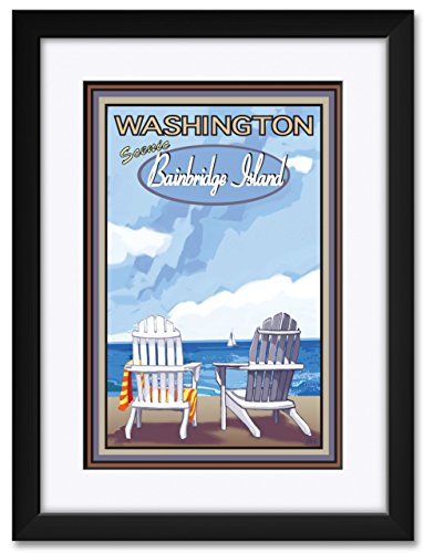 Bainbridge Island Washington Framed & Matted Art Print by Joanne Kollman. Print Size: 12