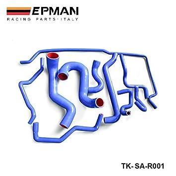 epman-9pcs Original Logo 100% silicona refrigerante manguera Kit para Saab 9 - 5 2.3 T 2003 + azul tk-sar001: Amazon.es: Coche y moto
