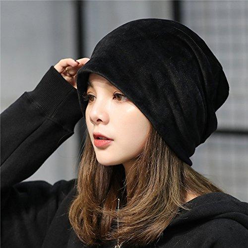 - Hats for Women, Beret Cap Baggy Beret Hat Warm Flexible Autumn Winter Handmade Knit Beanie Skullies Newsboy Bucket Knitted Crochet for Woman Ladies Girls Outdoor Sports - black