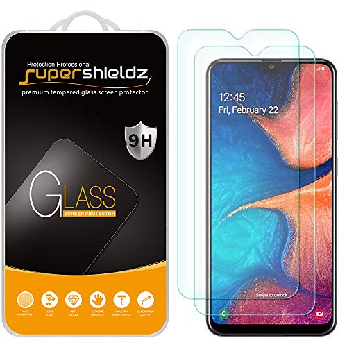 (2 Pack) Supershieldz Designed for Samsung Galaxy A20 (Not Fit for Galaxy S20) Tempered Glass Screen Protector, Anti…