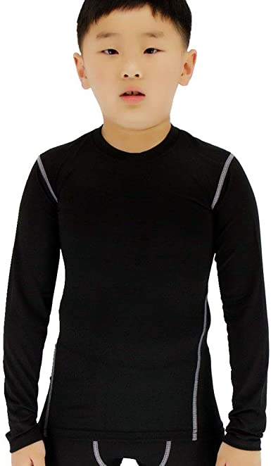 LANBAOSI Boys/&Girls Fleece Thermal Long Sleeve Compression Underwear T-Shirt