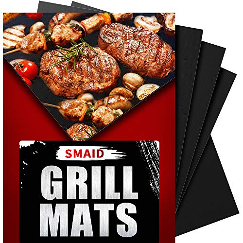 SMAID Grill Mat Non-stick BBQ Grill Baking Mats - FDA-Approved, Reusable and Easy To Clean - Works...