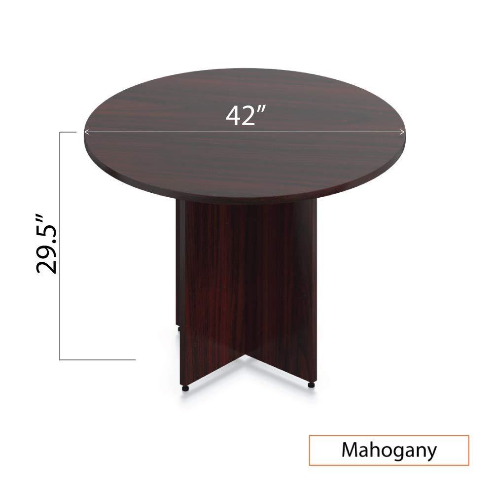 GOF 42'' Round Table (42W x 42D x 29.5H), Cherry, Espresso, Mahogany, Walnut (Mahogany) by GOF (Image #3)