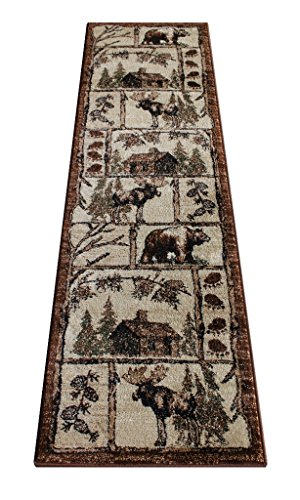 Runners Western Rug - Cabin Style Area Rug Runner 2 Ft. 2 In. X 7 Ft. 2 In. Design # L-362