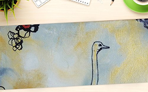 "KESS InHouse Sonal Nathwani ""Ostrich"" Office Desk Mat, Blotter, Pad, Mousepad, 13 x 22-Inches"