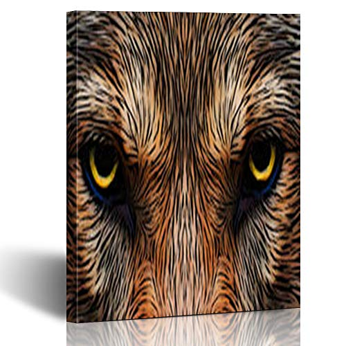 Homeyard Canvas Prints Wall Art Userpic Menacing Expression Awful Charm Demonic Wolf Wildlife Amazing Nature Great 8 x 10 Inches Wooden Frame Stretched Artwork Painting Home Decor Bedroom Office