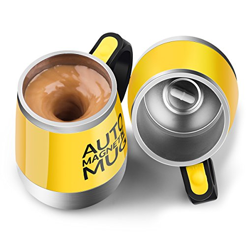 Self Stirring Coffee Mug(Yellow) - 1