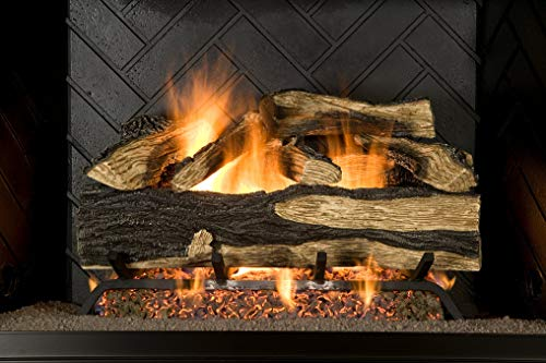 ure Heat Seasoned Hickory Dual Burner Vented Gas Log Set, 18-Inch, Natural Gas ()