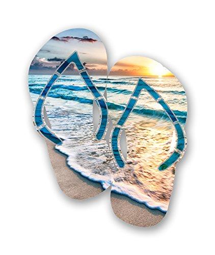 Next Innovations Steel Beach Flip Flops Wall Art, Cancun