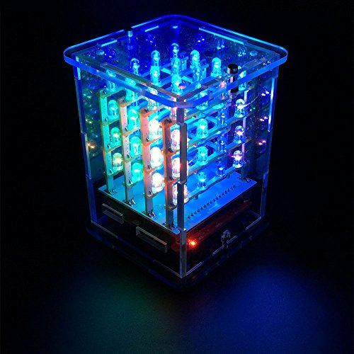 Keyestudio 4 4 4 Rgb Led Cube Light Kit With 8 8 Led Rgb