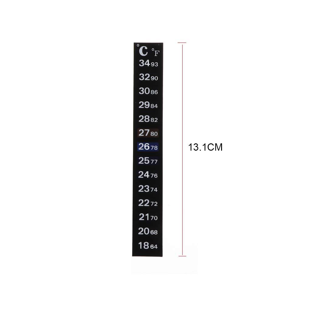 Affichage num/érique Bande de mesure de la temp/érature Qiulip Thermom/ètre daquarium /étanche avec /écran LCD Jauge de temp/érature en caoutchouc