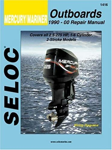 mercury mariner outboards all engines 1990 2000 seloc marine rh amazon com Mercury 90 HP 2 Stroke Diagram Mercury 90 HP 2 Stroke Diagram