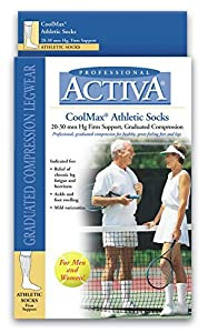 FLA Activa 20-30 mmHg Athletic Support Sock Over the Calf - Various Sizes