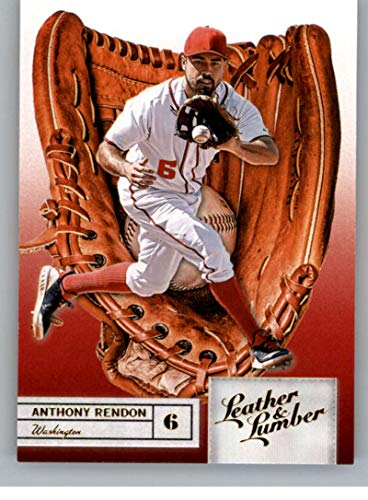 2019 Leather and Lumber Embossed Gold Baseball #33 Anthony Rendon Washington Nationals Glove Official MLBPA Trading Card From Panini