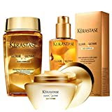 Kérastase Elixir Ultime Huile Lavante Bain 250ML, Beautifying Masque 200ML And Oil 100ML Trio Bundle