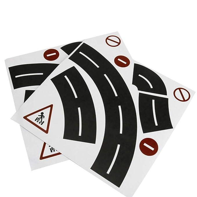 zrshygs Play Road Cinta para Juguetes, Autos y Trenes, 3 Rollos ...