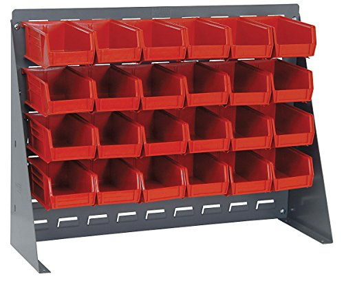 Quantum Storage Systems QBR-2721-220-24 Bench Racks & Louvered Panels With Bin Complete Unit Red