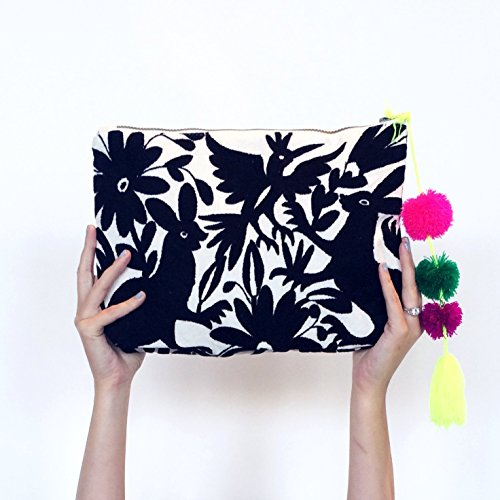Oversized Clutch - Michelle Otomi Embroidery by Erica Maree